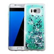 Insten Quicksand Glitter Hybrid Hard PC/TPU Case Cover For Samsung Galaxy S8+ S8 Plus - Hearts Green