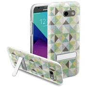 Insten Checker Hard Plastic Case w/stand For Samsung Galaxy Amp Prime 2/Express Prime 2/J3 (2017)/J3 Emerge - Neon Green