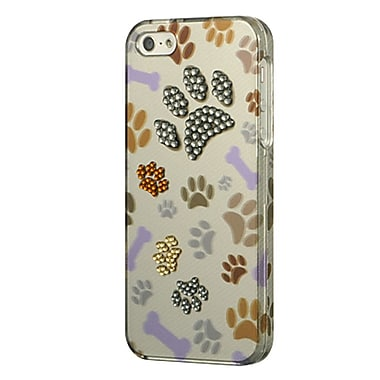 Insten Paws Diamond Hard Snap-in Back Protective Case Cover For Apple iPhone SE / 5 / 5S - Multi-Color