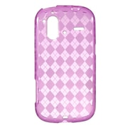 Insten Crystal TPU Rubber Candy Skin Transparent Case Cover For HTC Amaze 4G - Hot Pink