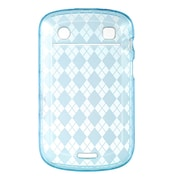 Insten Crystal TPU Rubber Candy Skin Transparent Case Cover For BlackBerry Bold 9900 - Blue