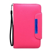 Insten Leather Wallet Flip Credit Card Pouch Case Cover For Samsung Galaxy Note II - Hot Pink