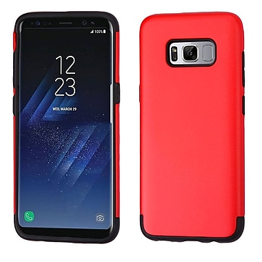 Insten Glossy Hybrid Dual Layer Hard PC/TPU Shockproof Case Cover For Samsung Galaxy S8+ S8 Plus - Red/Black