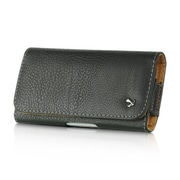 Insten Luxmo HTC One S4 S3 Horizontal Universal Leather Case Pouch w/Belt Loop & Magnetic Closing Flap - Black