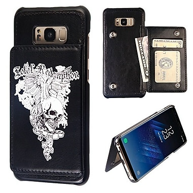 Insten Skull Wing Black Flip Wallet Executive Hard PC Stand Case Cover for Samsung Galaxy S8 Plus S8+ - Black
