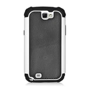 Insten Armor Vision Dual Layer Hybrid Rubberized Hard PC/Silicone Case Cover For Samsung Galaxy Note II - Black/White