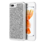 Insten Rhinestone Diamond Bling Hard Snap On Case Cover For Apple iPhone 7 Plus/ 8 Plus / 6s Plus / 6 Plus, Silver