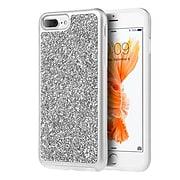 Insten Rhinestone Diamond Bling Hard Snap On Case Cover For Apple iPhone 7 Plus/ 8 Plus / 6s Plus / 6 Plus, Silver