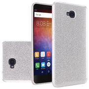 Insten Dual Layer Hybrid Glitter PC/TPU Rubber Case Cover For Huawei Ascend XT - Silver