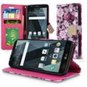 Insten Floral PU Leather Bling Credit Card Wallet Stand Flip Case For LG Stylo 3 - Pink