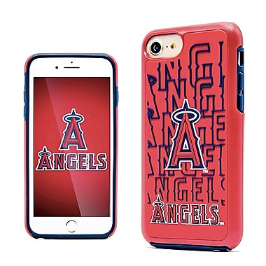 Insten Dream Impact Los Angeles Angels Dual Layer Hybrid PC/TPU Rubber Case Cover for Apple iPhone 7 - Red/Blue