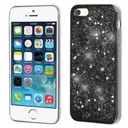 Insten Starry Sky (Black) Krystal Gel Series TPU Rubber Candy Skin Case For Apple iPhone SE / 5 / 5S - Silver