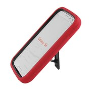 Insten Symbiosis Stand Hybrid Silicone/Hard PC Case Cover For Samsung Galaxy S4 - Red/Black