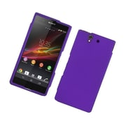 Insten Rubberized Hard Snap On Protective Case Cover For Sony Xperia Z C6603 - Purple