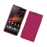Insten Rubberized Hard Snap On Protective Case Cover For Sony Xperia Z C6603 - Hot Pink