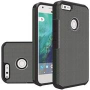 Insten Carbon Fiber Slim Hybrid Dual Layer Hard PC/Silicone Case For Google Pixel XL - Black