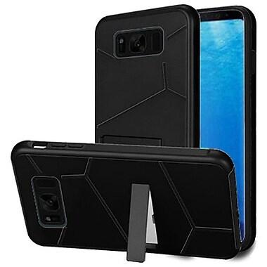 Insten HLX Hybrid Dual Layer Kickstand PC/TPU Case Cover For Samsung Galaxy S8 - Black