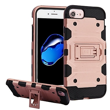 Insten Storm Tank Hybrid PC/TPU [Shock Absorbing] Case For Apple iPhone 7 / 6s / 6 - Rose Gold/Black