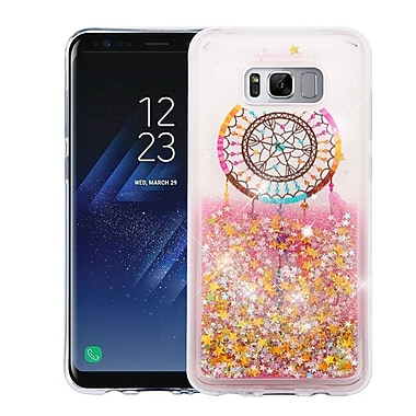 Insten Dreamcatcher/Gold Stars Quicksand Glitter Hybrid Hard PC/TPU Case Cover For Samsung Galaxy S8