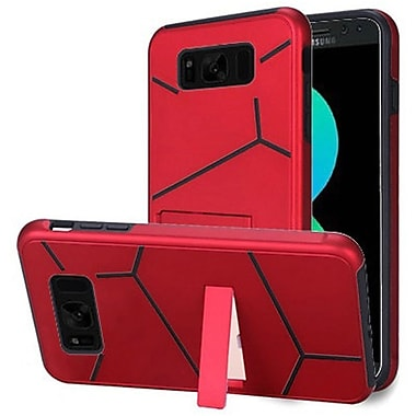 Insten HLX Hybrid Dual Layer Kickstand PC/TPU Case Cover For Samsung Galaxy S8+ S8 Plus - Red/Black