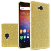 Insten Dual Layer Hybrid Glitter PC/TPU Rubber Case Cover For Huawei Ascend XT - Gold