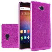 Insten Dual Layer Hybrid Glitter PC/TPU Rubber Case Cover For Huawei Ascend XT - Purple