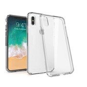 BasAcc Crystal PC/TPU Hybrid Phone Clip-on Hard Case Cover for Apple iPhone X - Clear