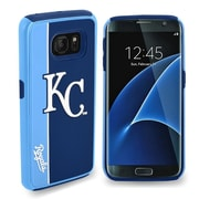 Insten Kansas City Royals Bold Hybrid Dual Layer Hard PC/TPU Shockproof Case Cover For Samsung Galaxy S7 - Blue