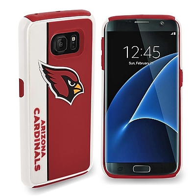 Insten Arizona Cardinals Bold Hybrid Dual Layer Hard PC/TPU Shockproof Case Cover For Samsung Galaxy S7 - Red/White