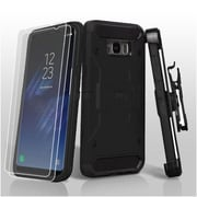 Insten 3-in-1 Kinetic Hybrid Holster Case Combo 2pcs Protector For Samsung Galaxy S8 Plus S8+ - Black