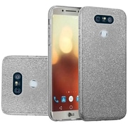 Insten Glitter Hybrid Clear Hard PC/TPU Dual Layer Case Cover For LG G6 - Smoke