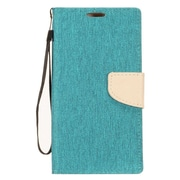 Insten Stand Denim Fabric ID/Card Slot Case Cover for LG Fiesta LTE/X Charge/X Power 2 - Blue/Gray