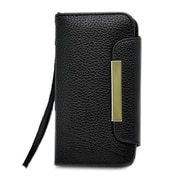 Insten Leather Wallet Flip Credit Card Pouch Case Cover For Apple iPhone 5 / 5S - Black