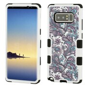 Insten European Flowers Dual Layer Hybrid PC/TPU Rubber Case Cover for Samsung Galaxy Note 8 - Purple