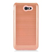 Insten Hybrid Dual Layer Brushed Chrome/Hard PC Case Cover For Samsung Galaxy J7 (2017) - Rose Gold