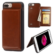 Insten Executive Protector Stand Leather Wallet Flap Pouch Case Cover for Apple iPhone 6 Plus/6s Plus/7 Plus - Brown