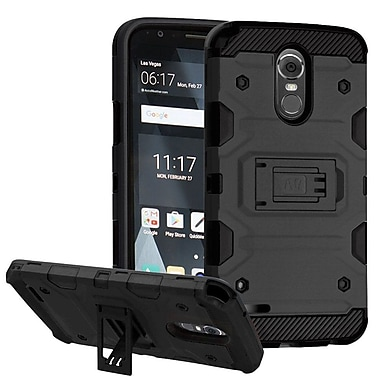 Insten Storm Tank Hybrid Shock Absorbing Hard PC/TPU Case Cover For LG Stylo 3 - Black