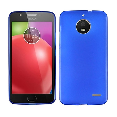 Insten Frosted TPU Rubber Candy Skin Gel Back Case Cover for Motorola Moto E4 - Blue