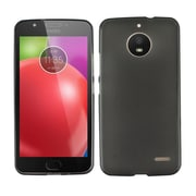 Insten Frosted TPU Rubber Candy Skin Gel Back Case Cover for Motorola Moto E4 - Black