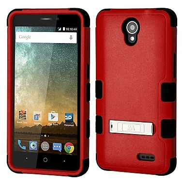 Insten TUFF Shock Absorbing Hybrid PC/TPU Dual Layer Stand Case For ZTE Prestige 2 N9136 - Red