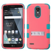 Insten TUFF Shock Absorbing Hybrid PC/TPU Dual Layer Stand Case For LG Stylo 3 Plus - Red