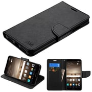 Insten Liner MyJacket Leather Wallet Credit Card Stand Flip Case Cover For Huawei Mate 9 - Black