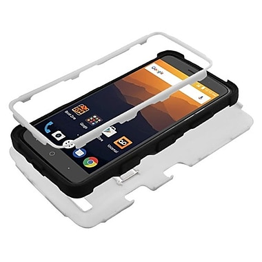 Insten Tuff Dual Layer Hybrid Stand Hard Plastic/Soft TPU Rubber Case For ZTE Blade Max 3/Max XL N9560 - Gray/Black