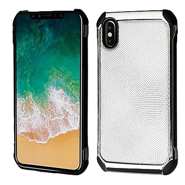 Insten Astronoot Dots Hard Dual Layer Plastic TPU Case For Apple iPhone X - Silver/Black