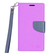 Insten PU Leather Wallet Flip Cover Stand Credit Card Case For Samsung Galaxy J7 (2017) / Sky Pro - Purple