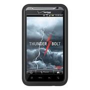 Insten TPU Rubber Candy Skin Shell Back Gel Case Cover For HTC ThunderBolt 4G - Black