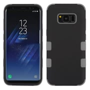 Insten TUFF [Shock Absorbing] Hybrid PC/Silicone Cover Case For Samsung Galaxy S8 - Rubberized Black/Iron Gray