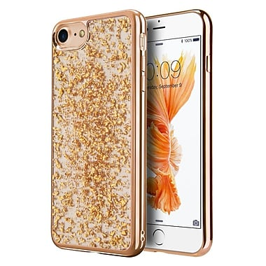 Insten Gold Leaf TPU Rubber Candy Skin Gel Rubber Back Case Cover For Apple iPhone 7 - Gold