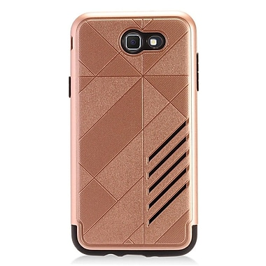 Insten Hybrid Dual Layer PC/TPU Rubber Protective Case Cover For Samsung Galaxy J7 (2017) - Rose Gold/Black