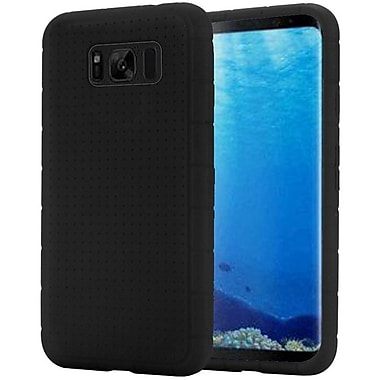 Insten Rugged Rubber Silicone Skin Gel Soft Case Cover For Samsung Galaxy S8 - Black